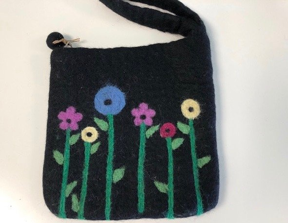 Felted Bloom Bag - Medium