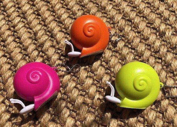Bright colors Snail measuring tape
