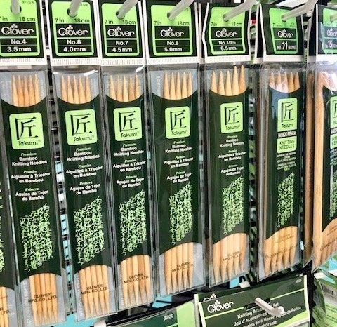 Takumi Bamboo Double Pointed Needles