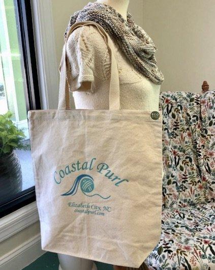 Coastal Purl cotton tote