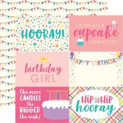 Happy Birthday Girl Double-Sided Cardstock 12X12 4X6 Journaling Cards