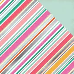 Echo Park Double-Sided Foil Cardstock 12X12 Diagonal Stripe