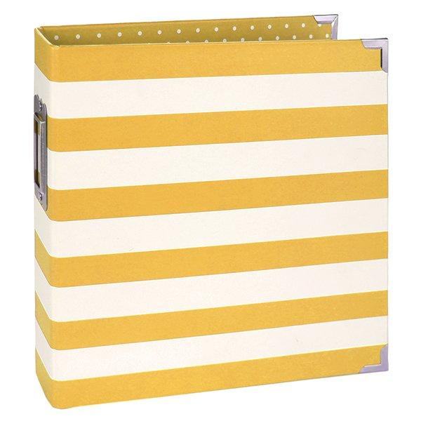 6x8 Binder-Yellow Stripe