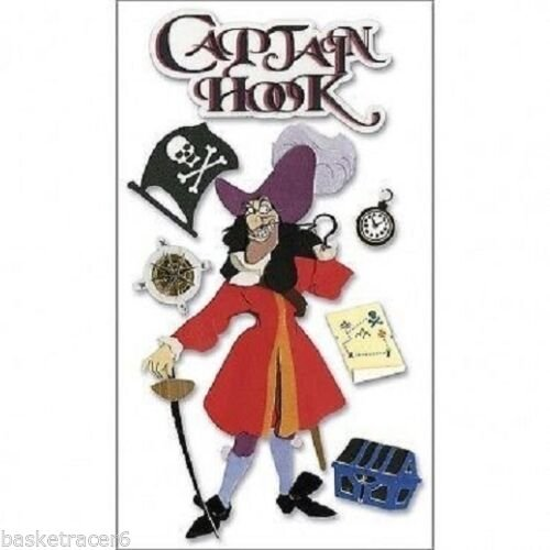 Disney Dimensional Stickers - Captain Hook