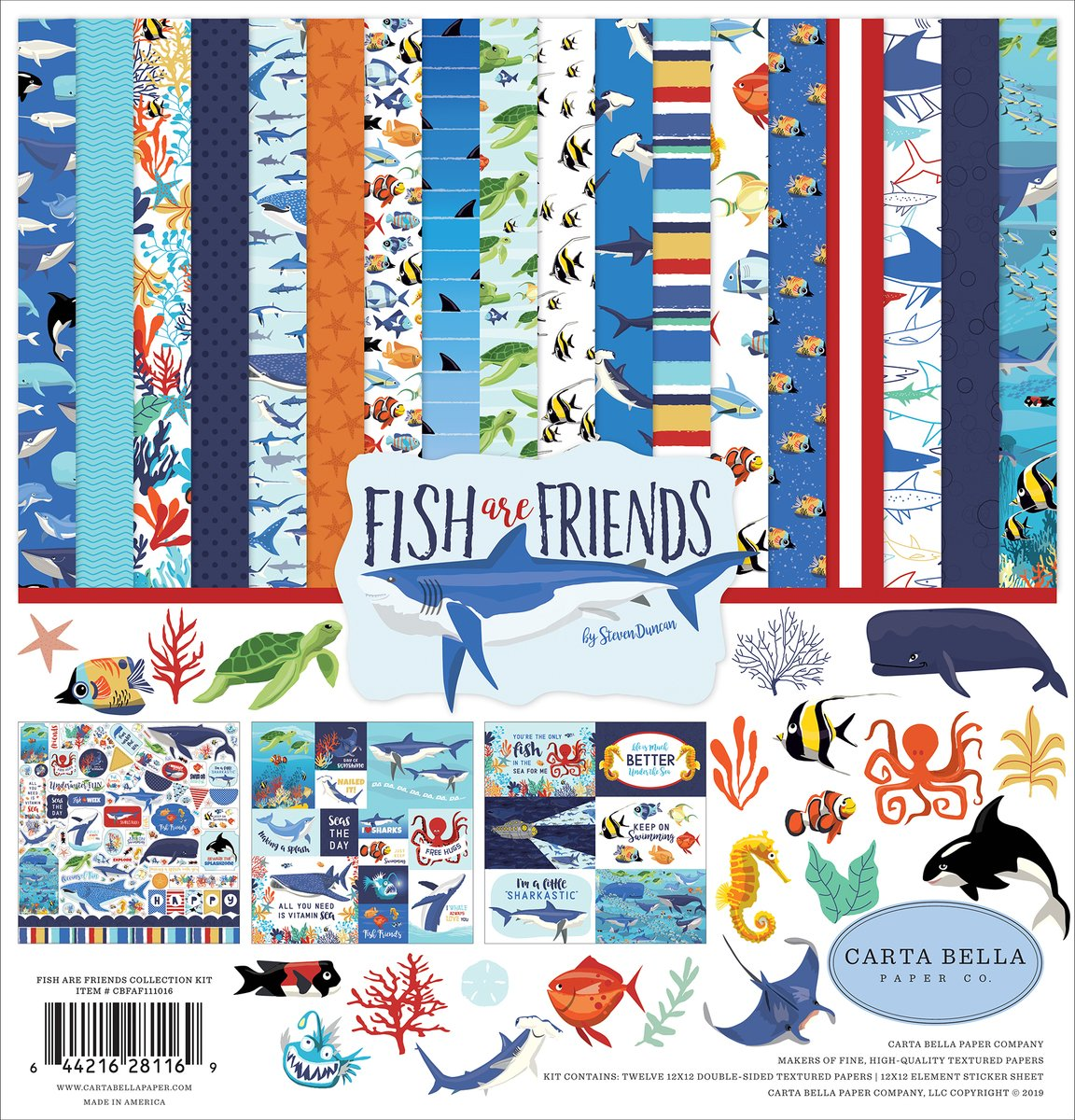 Carta Bella Collection Kit 12X12-Fish Are Friends