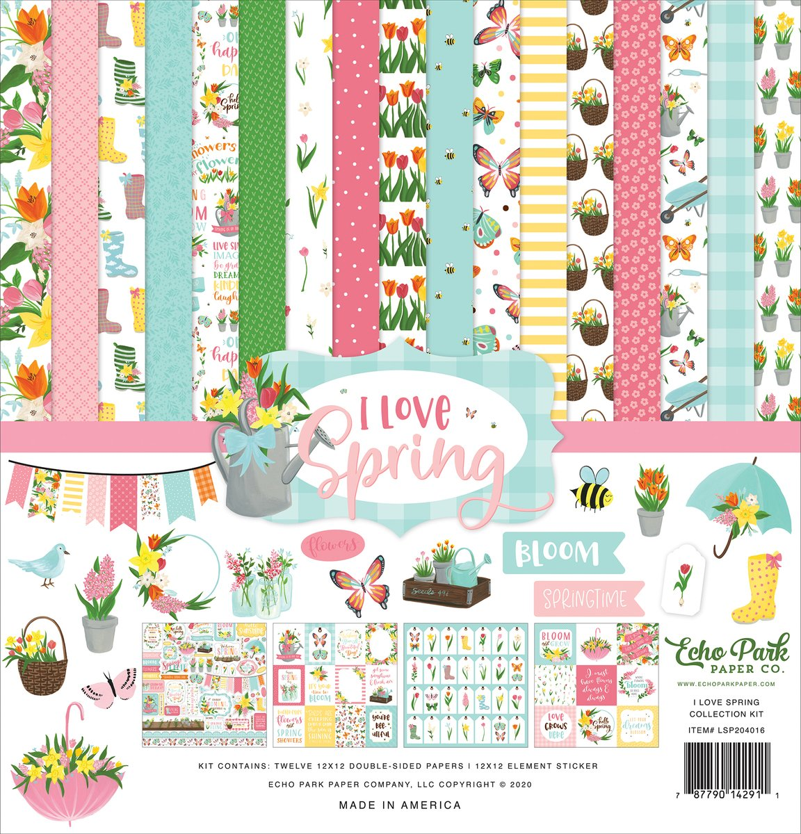 Echo Park Collection Kit 12X12-I Love Spring