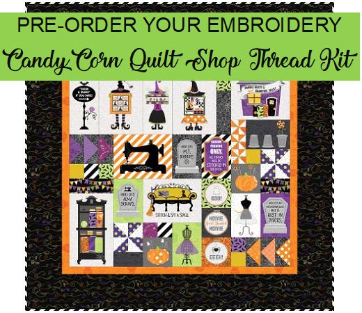 CANCY CORN QUILT SHOPPE EMBROIDERY THREAD KIT