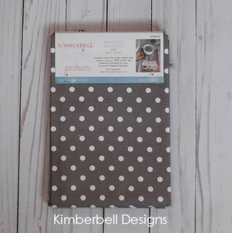 KDKB210 Grey Dot Tea Towels 2/pk