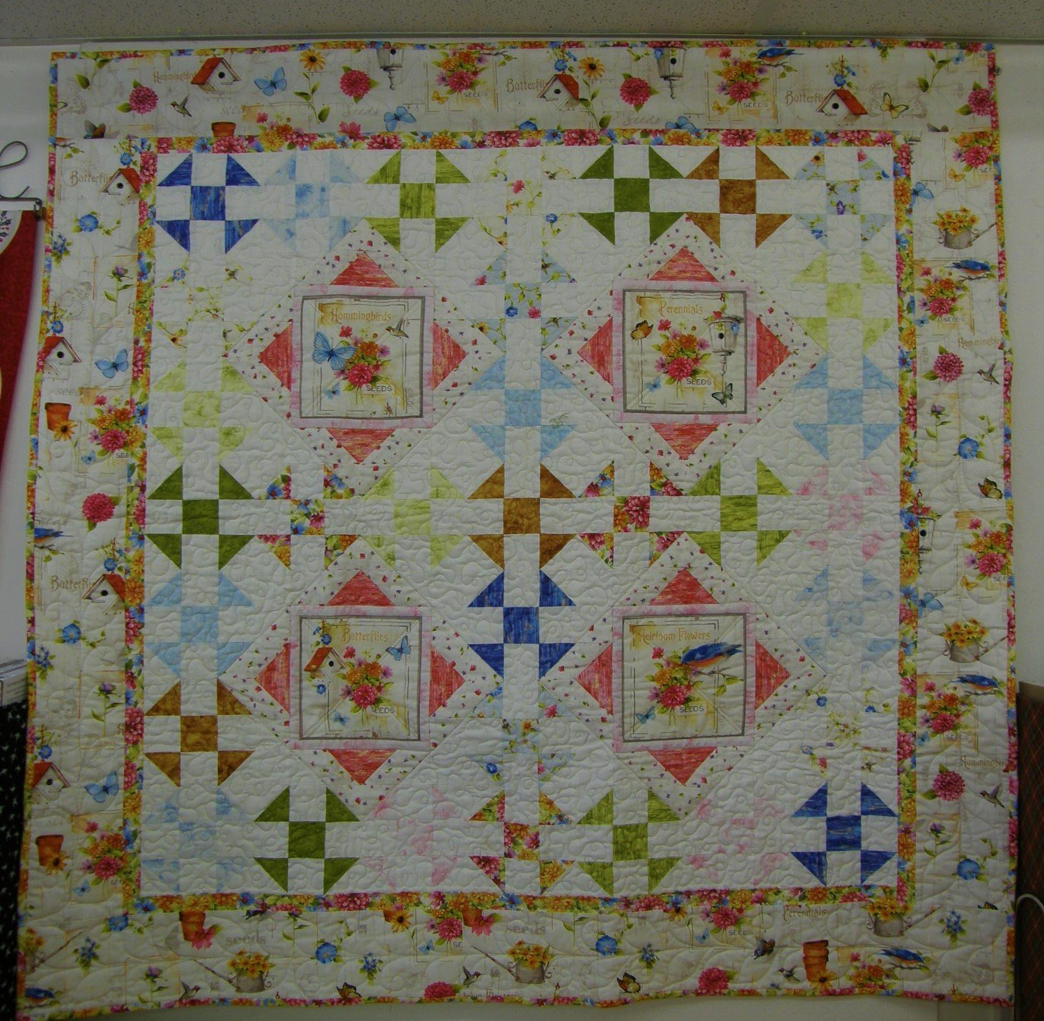 Adalee's Garden Finished Lap Quilt