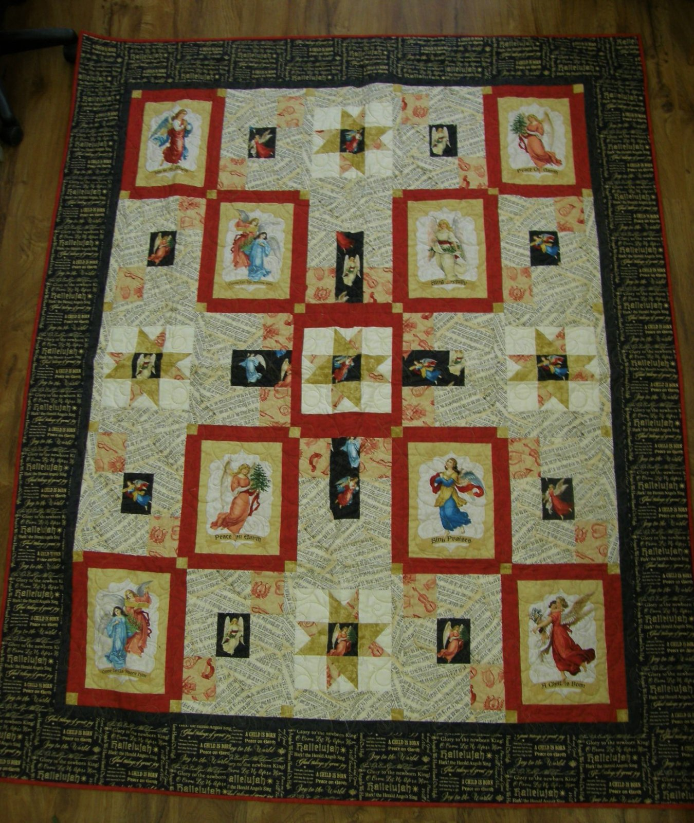 Angel Song Finished Lap Quilt