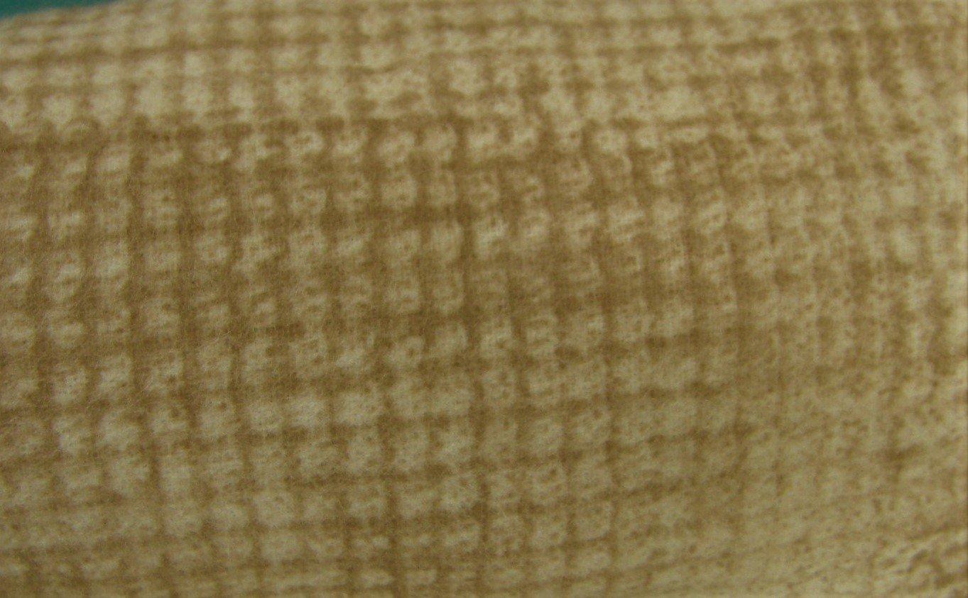 Bolt End Tan checked flannel 7/8 yd X WOF