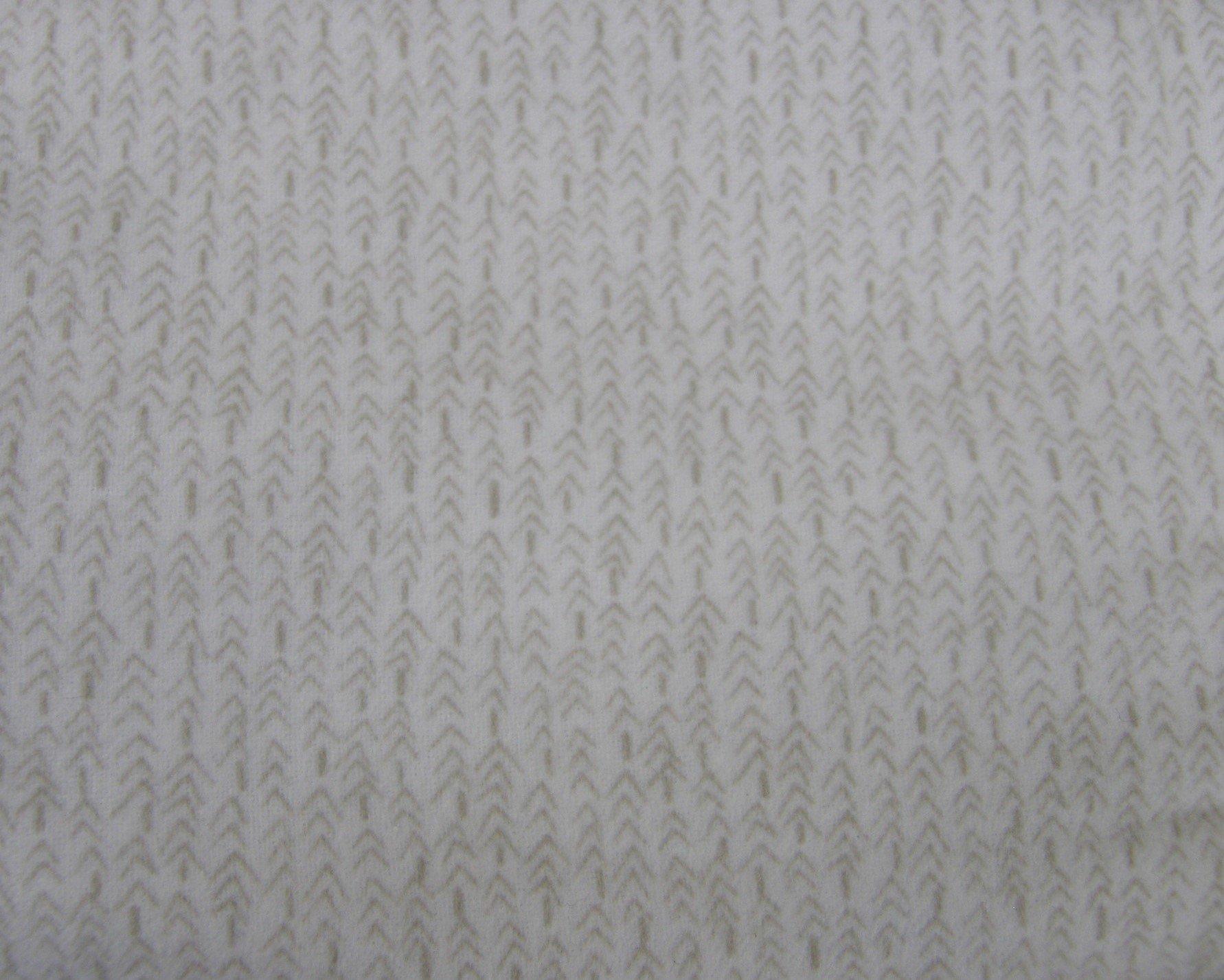 Bolt End Folk Art Flannel Off White Tiny Tree Lines 2/3 yd X WOF