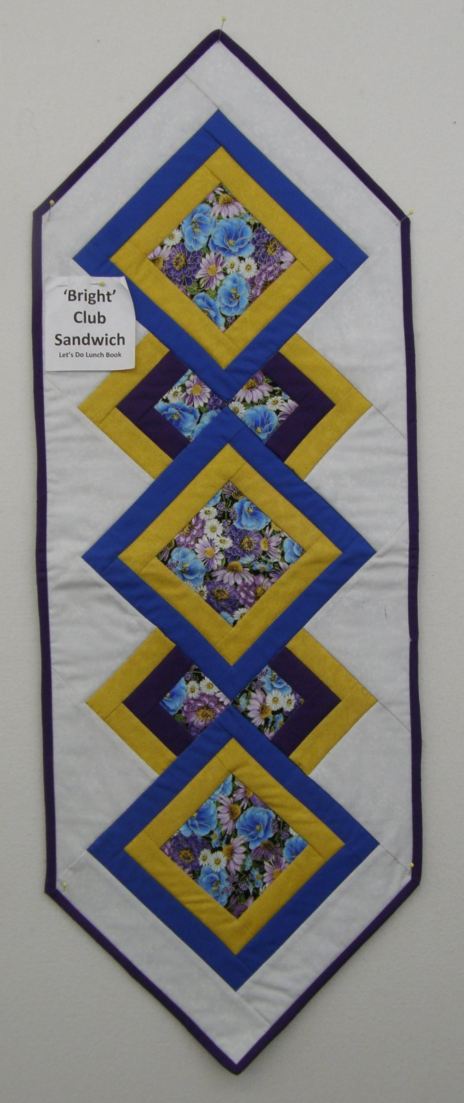 Finished Bright Club Sandwich Table Runner