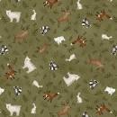 Bolt End Folk Art Flannel 2374 66 1/2 yd X WOF