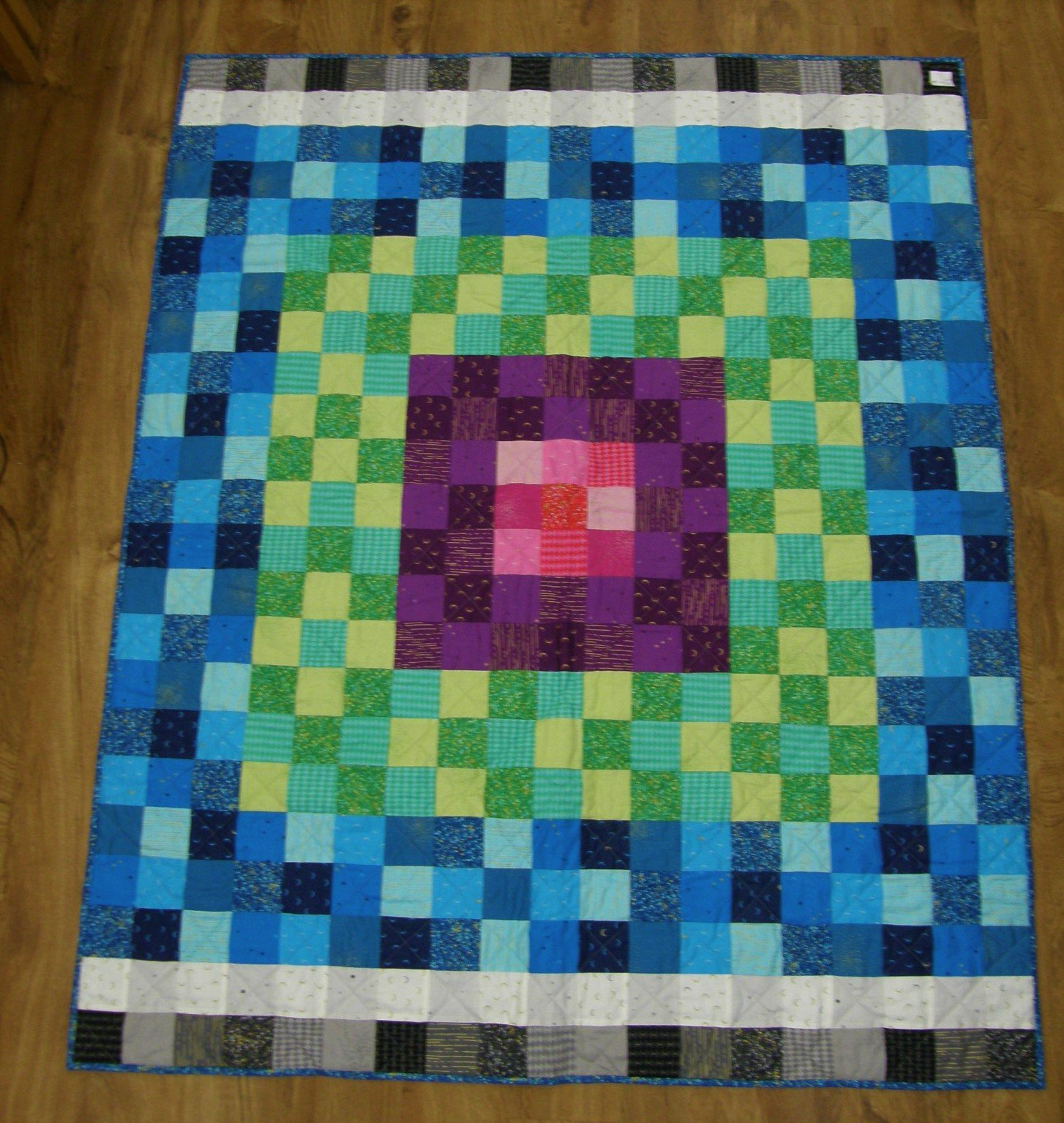 Finished Greatest Hits Lap Quilt   53 1/2 X 65