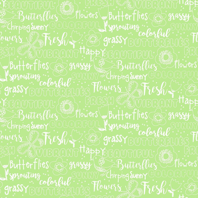 Hello Spring Green Texture