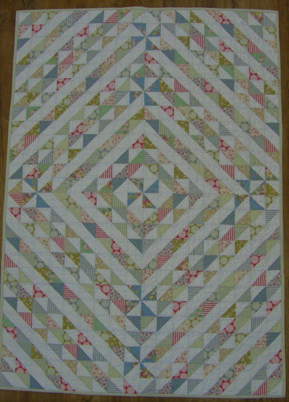 Hidden Pinwheel Finished Baby Quilt