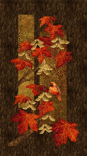 Maplewood Scarlet Panel by Northcott