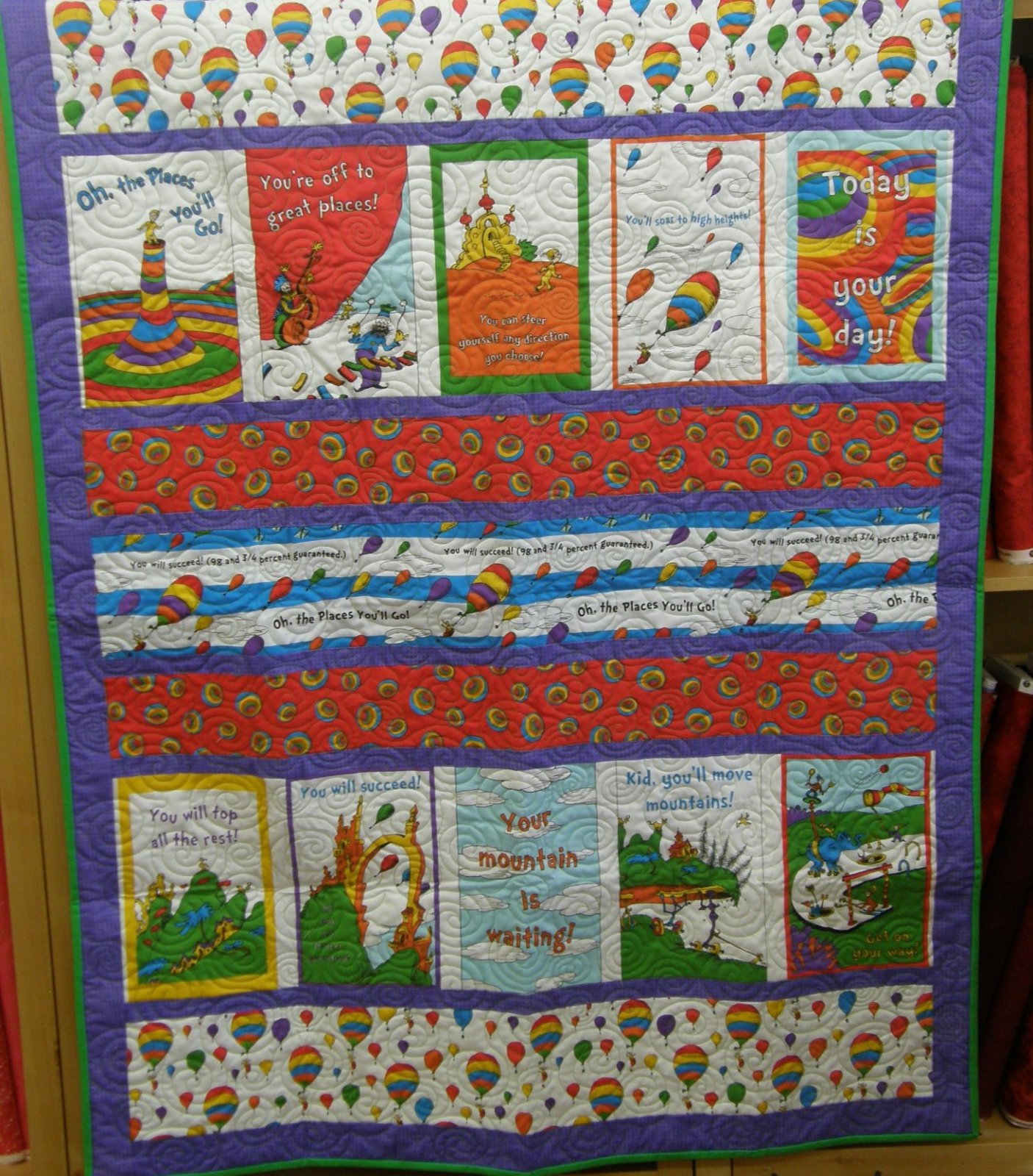 Oh, the Places You'll Go Lap quilt
