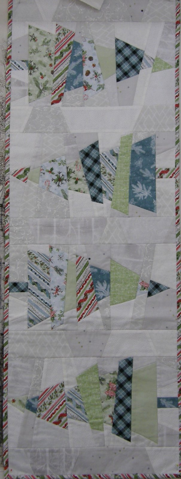 Crazy Christmas Tree Kit Woodland Friends fabrics