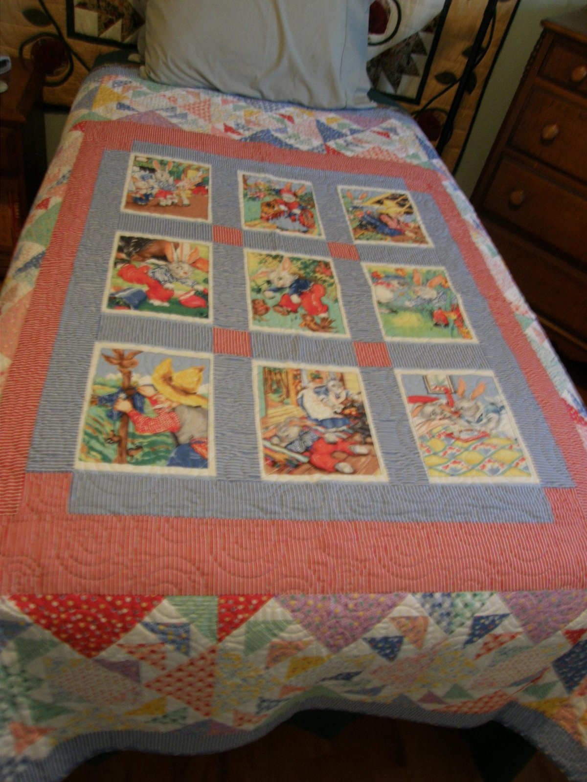 Bunny Tales Finished Twin Quilt