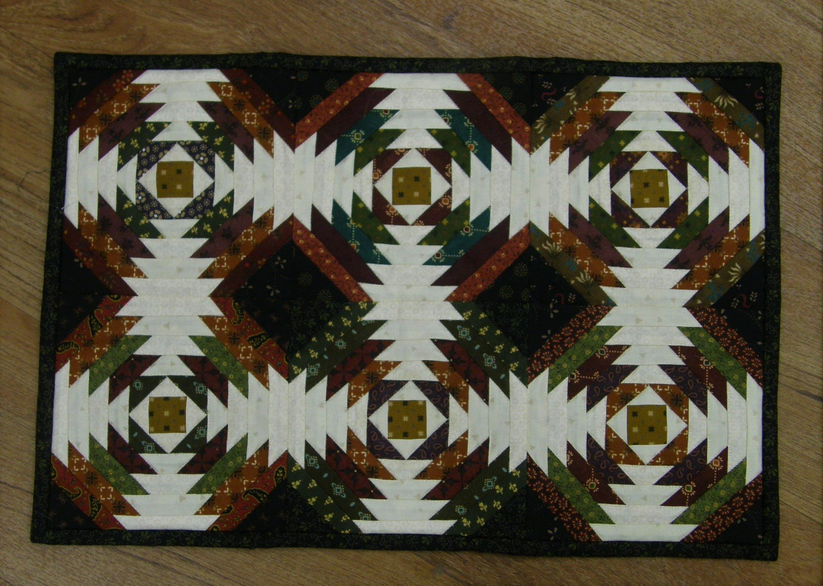 Finished Pineapple Placemat      12 1/2  X 18  1/2