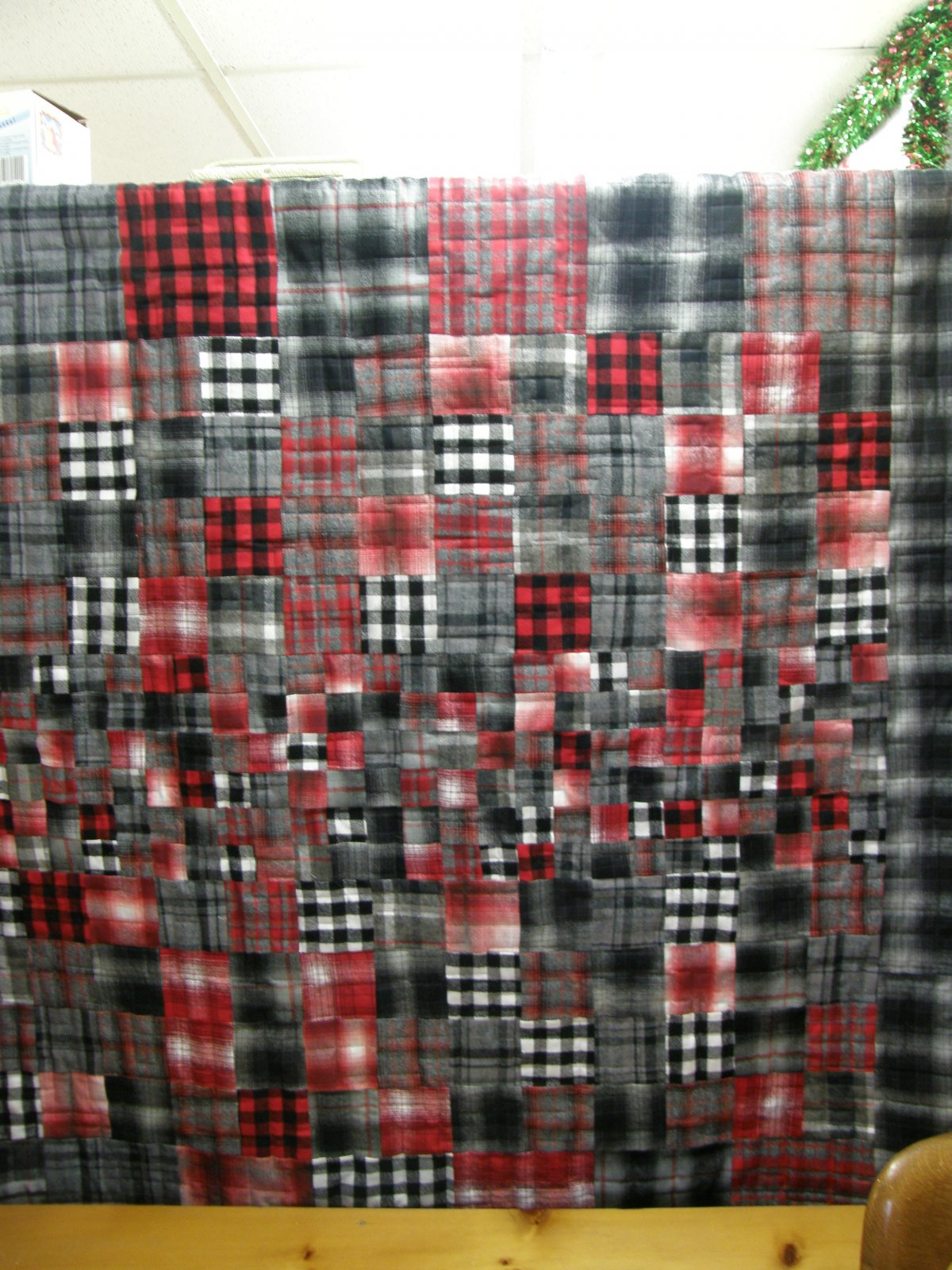 Finished Square Dance Mammoth Flannel  65 X 70