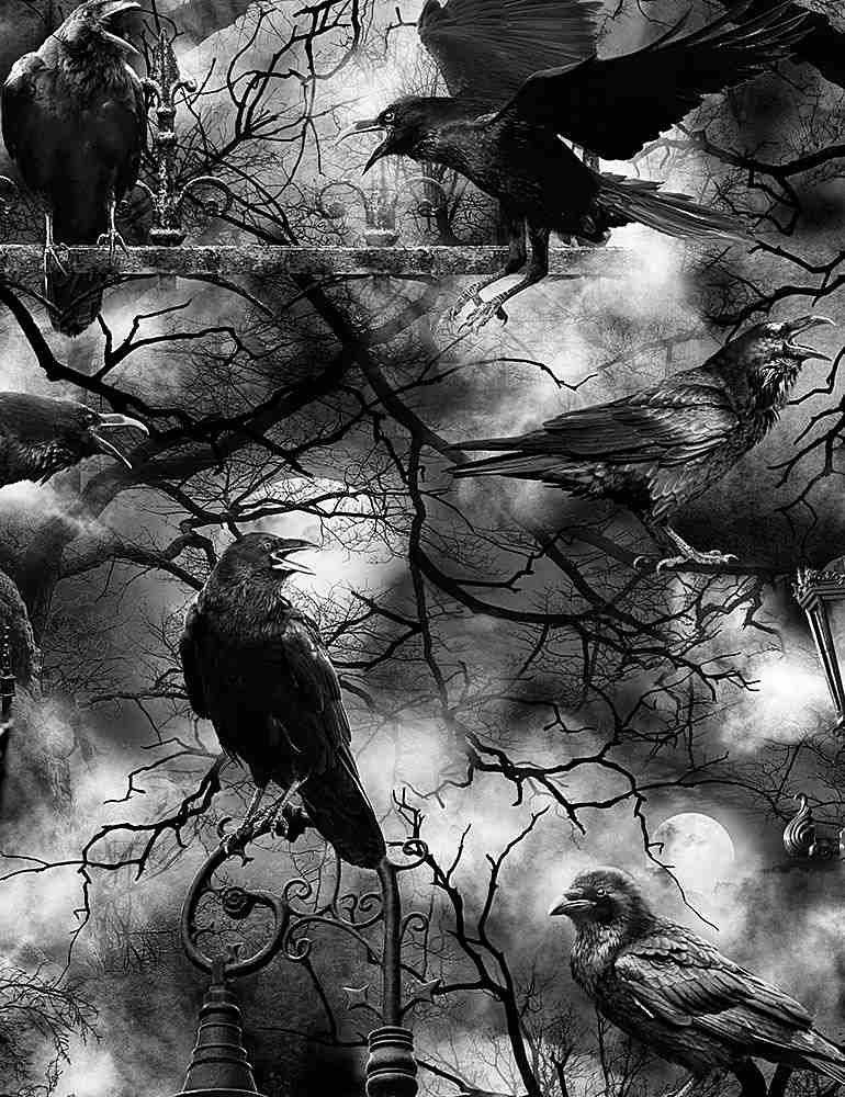 Bolt End Wicked Fog Crows    1yd X WOF