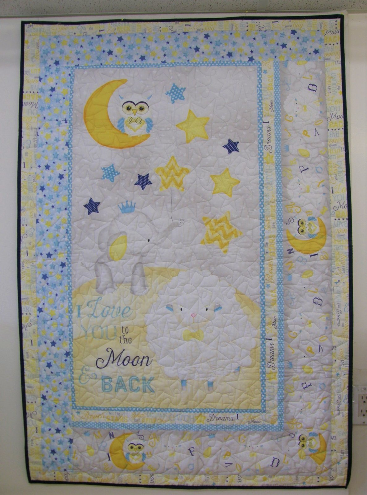 To The Moon and Back Finished Baby Quilt