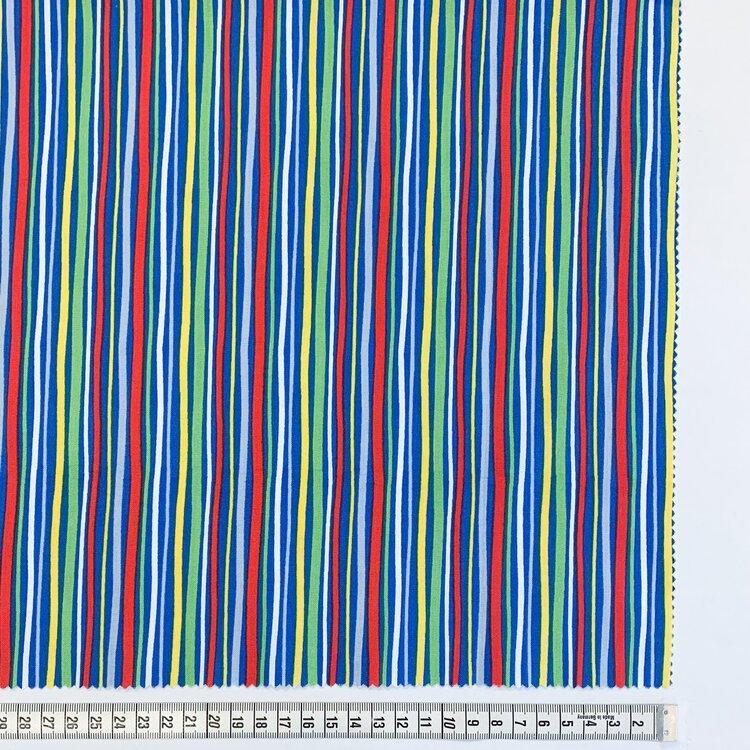 Bolt End Treasure Island 5 Stripe   1/3yd X WOF