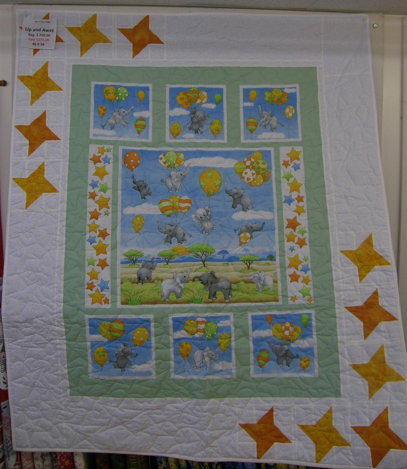 Up and Away Finished baby Quilt