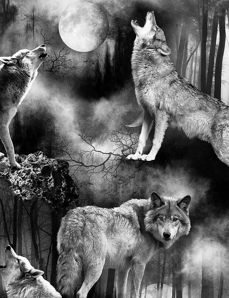 Wicked Fog Wolves Under Full Moons