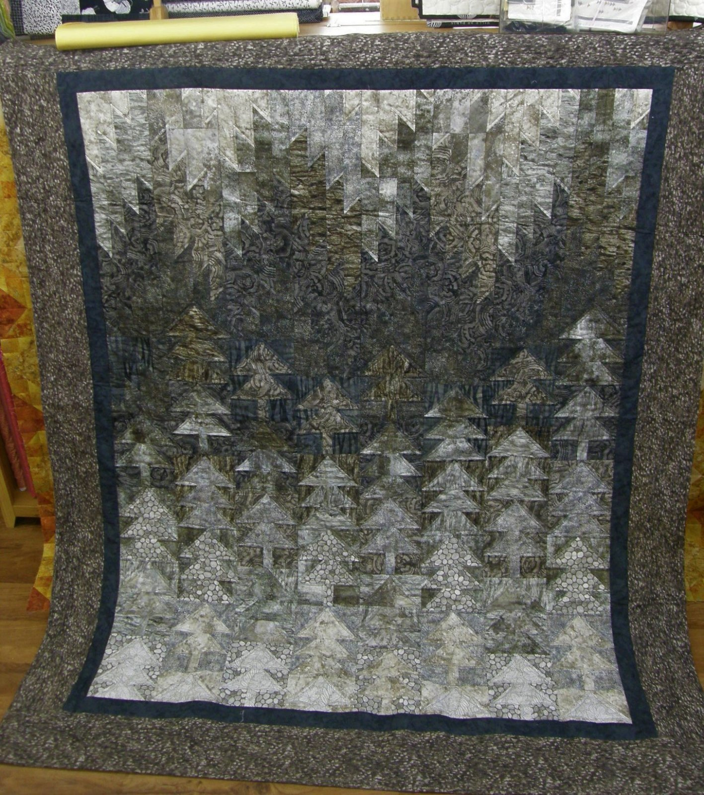 Woodland Echoes Finished Twin Quilt