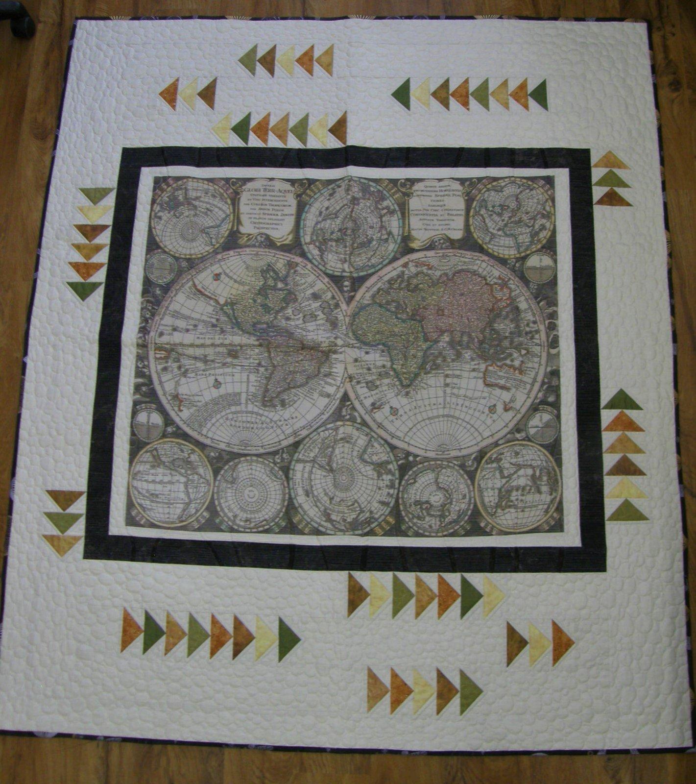 World Hemisphere Finished Twin Quilt
