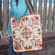 Tapestry Bag Sienna Multi with brown