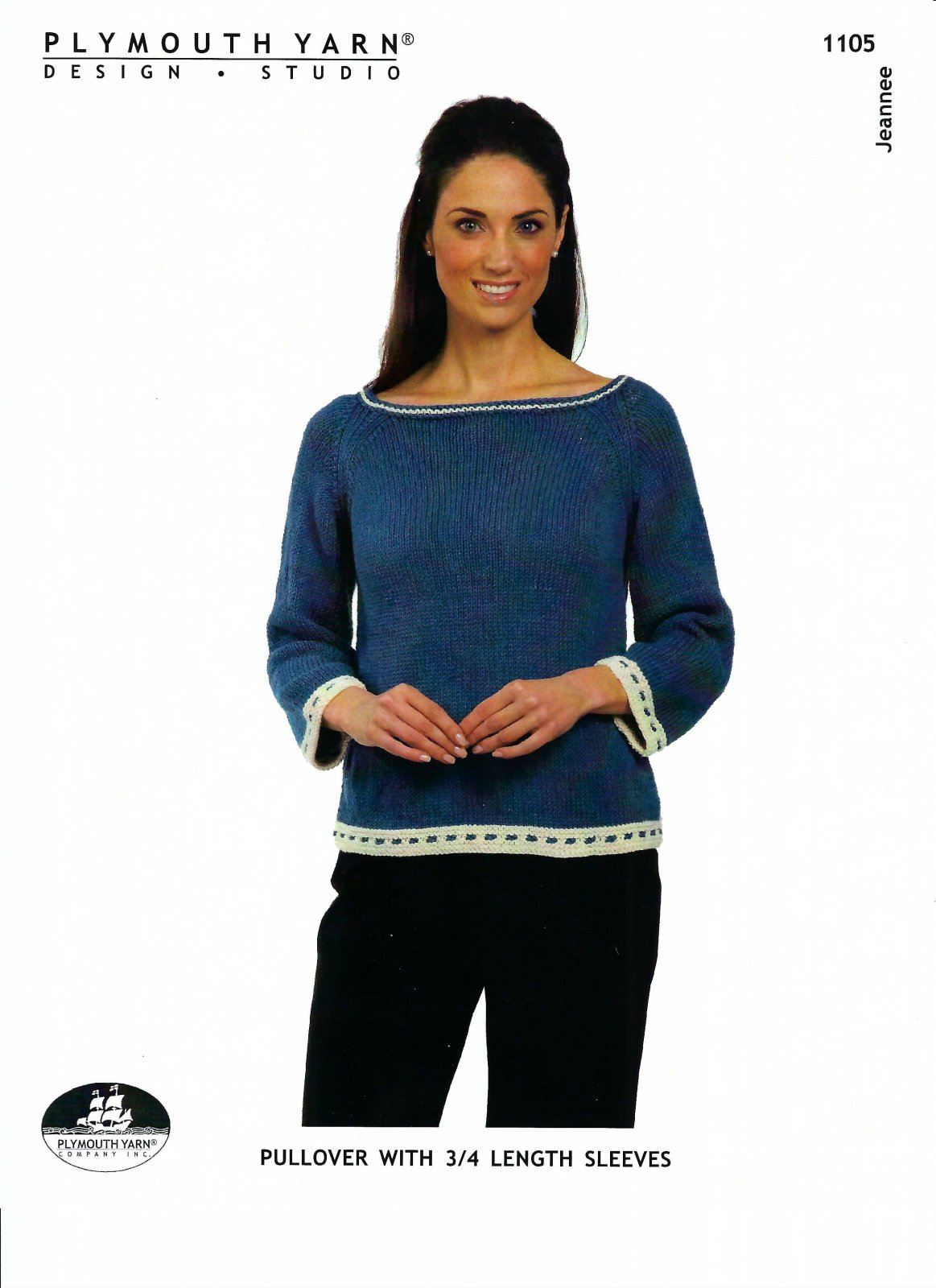 Jeannee Pullover with 3/4 length Sleeve