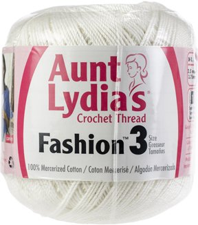 Aunt Lydia's Crochet Thread Sz 3  White