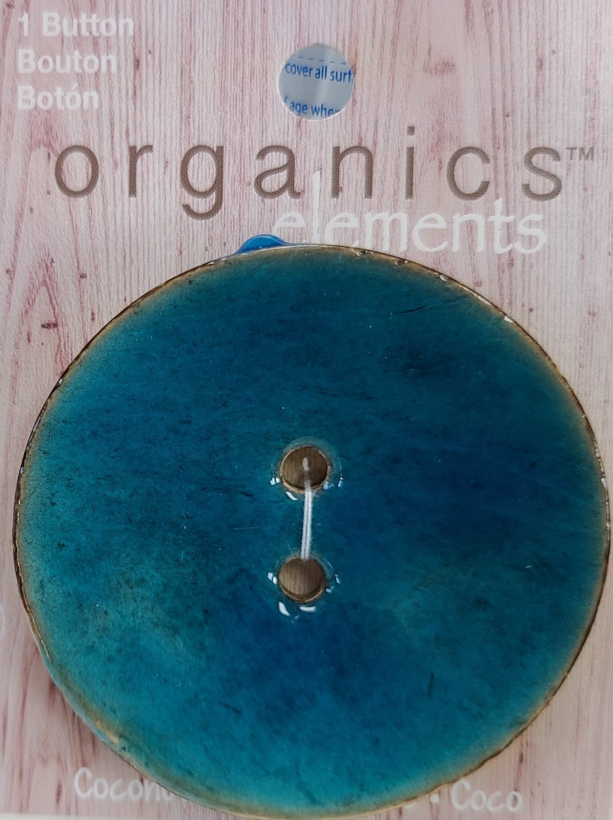 Turquoise Coconut Button