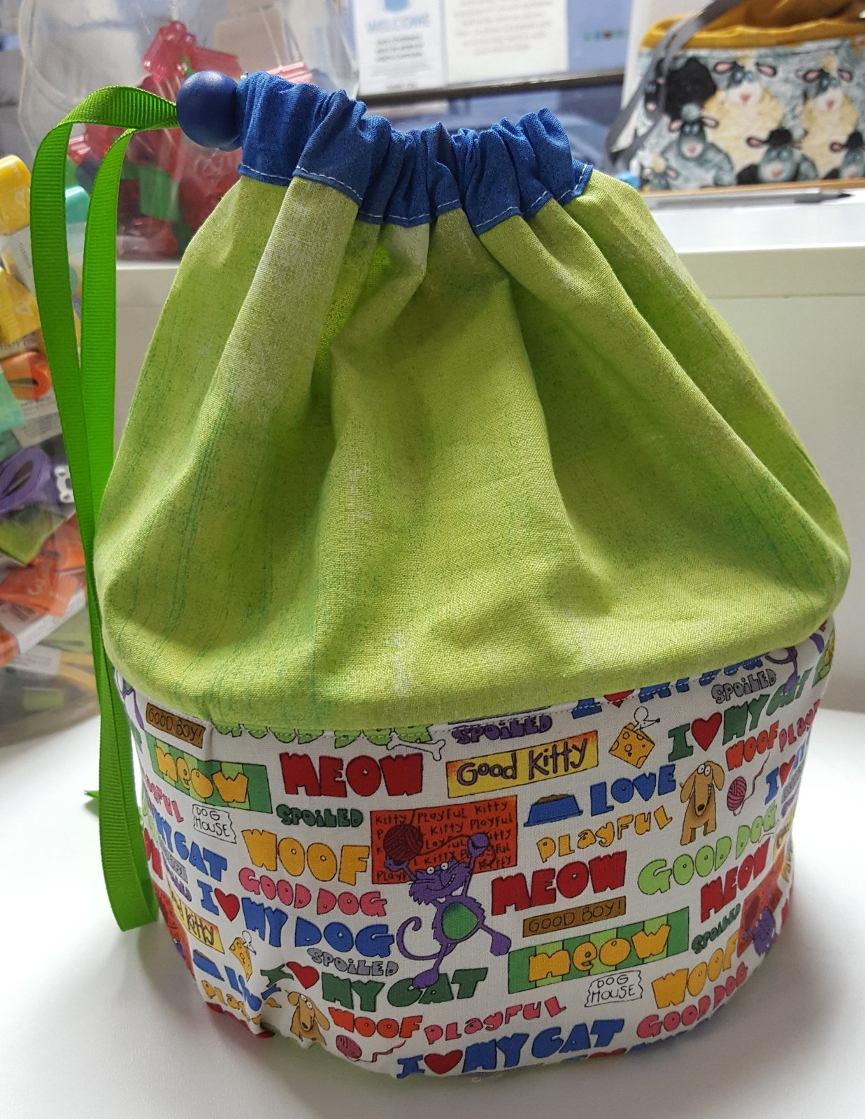 Yarn Bowl Project Bag