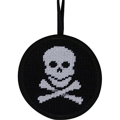 Skull & Crossbones Stitch-Ups Round Ornament