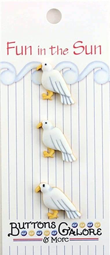 Fun in the Sun Buttons - Seagulls