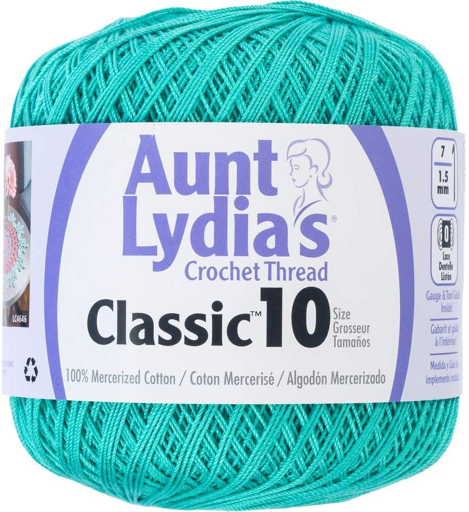 Aunt Lydia Classic 10 Crochet Thread - Jade