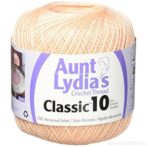 Aunt Lydia Classic 10 Crochet Thread - Light Peach