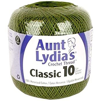 Aunt Lydia Classic 10 Crochet Thread - Olive