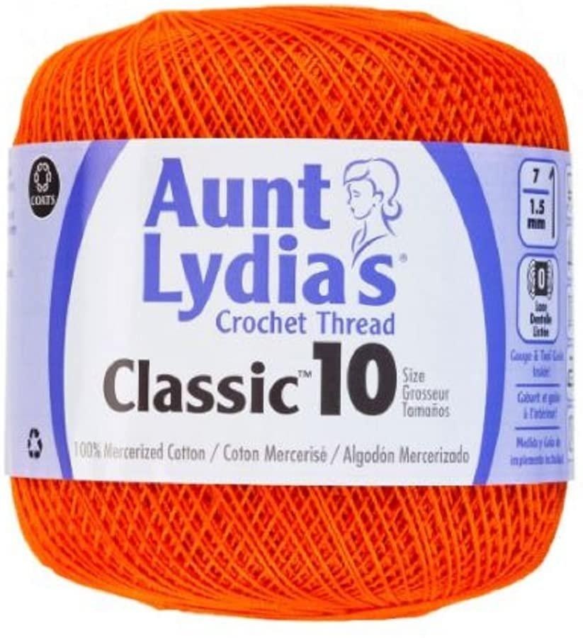 Aunt Lydia Classic 10 Crochet Thread - Pumpkin