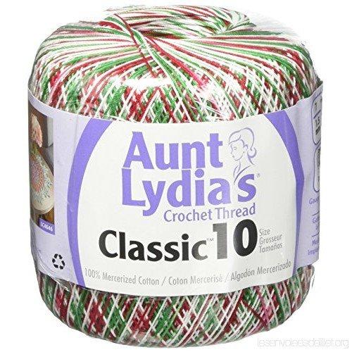 Aunt Lydia Classic 10 Crochet Thread - Shaded Christmas