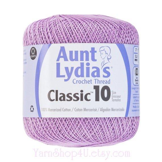 Aunt Lydia Classic 10 Crochet Thread - Wood Violet