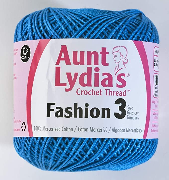 Aunt Lydia Fashion 3 Crochet Thread - Blue Hawaii