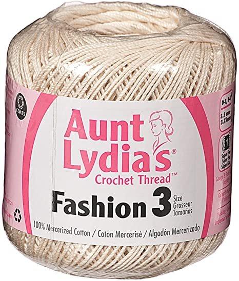 Aunt Lydia Fashion 3 Crochet Thread - Natural