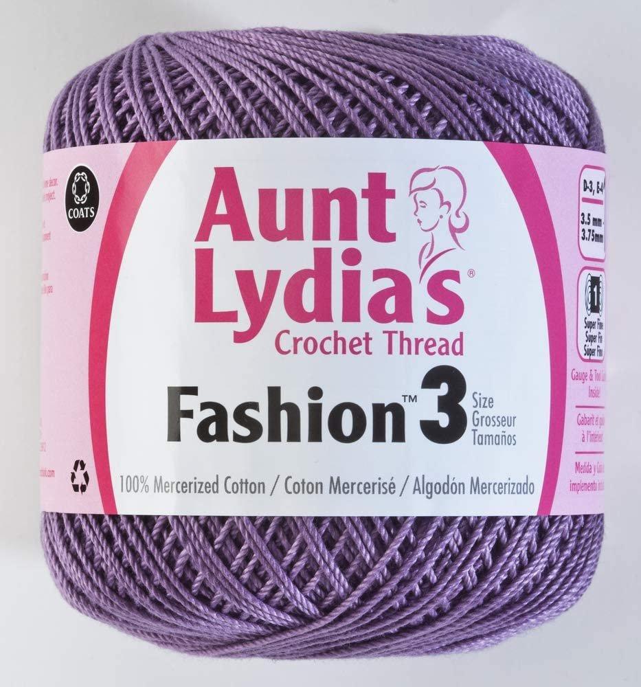Aunt Lydia Fashion 3 Crochet Thread - Plum